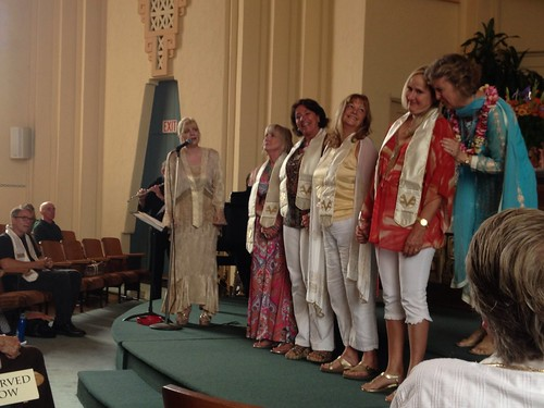 New practitioners receive their stoles, Ventura Center for Spiritual Living