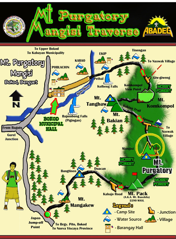 Mt. Purgatory Mangisi Traverse Map