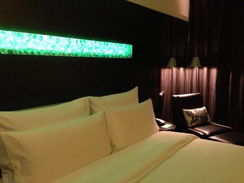 Junior Suite Bedroom with Changing Headboard Lights