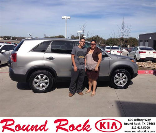 Thank you to Luis And Rossana Gonzalez on your new car from Jorge Benavides and everyone at Round Rock Kia! #NewCarSmell by RoundRockKia