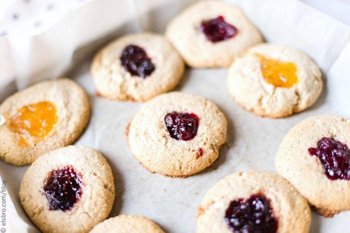 Cashew and Oat Thumbprint Cookies