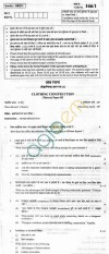 CBSE Board Exam 2013 Class XII Question Paper -Clothing Construction PaperIII