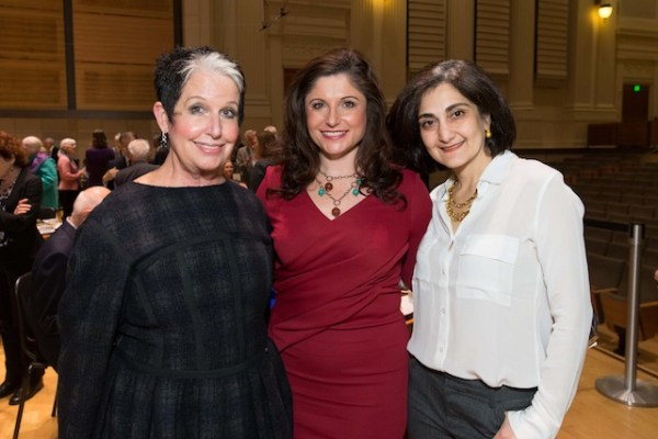 Trustee Karen Kubin, Trustee Barbara Walkowski and Fati Farmanfarmian