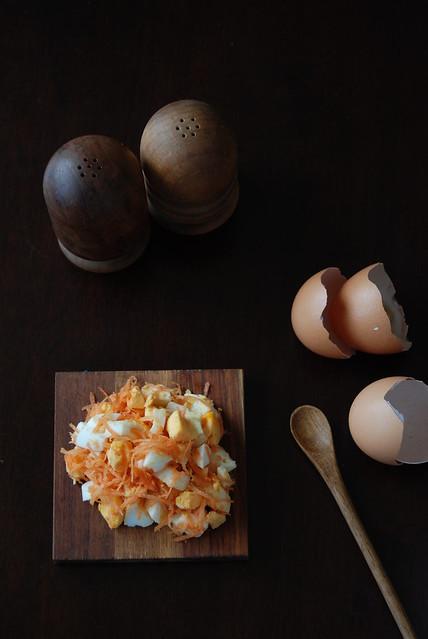 egg carrot salad spread 3