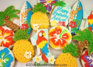 Hawaiian themed cookies