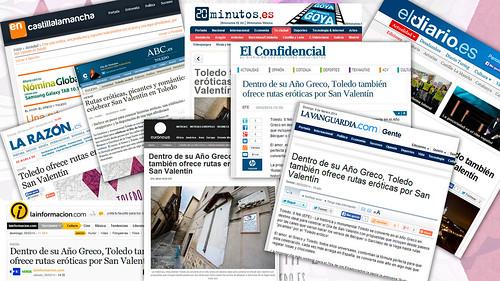 """San Valentín, Toledo Erótico En 2014, """"Toledo erótico"""" tuvo un gran impacto en la prensa nacional."""