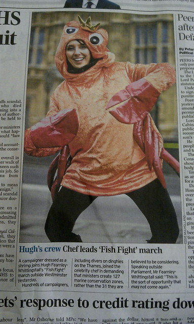 Karli Drinkwater on page 2 of The Telegraph, campaigning for MCZs