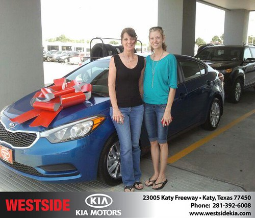 Thank you to Diana Henderson on the 2013 new car  from Gil Guzman and everyone at Westside Kia! by Westside KIA