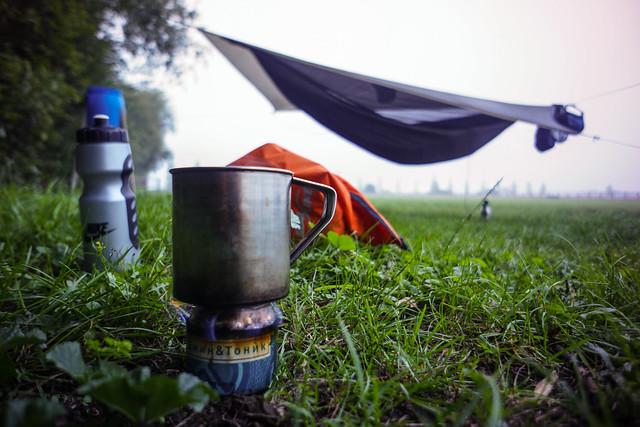Polo field campsite