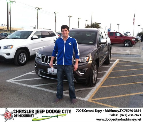Thank you to Brendon Bain on your new 2014 #Jeep #Grand Cherokee from George Rutledge and everyone at Dodge City of McKinney! #NewCar by Dodge City McKinney Texas