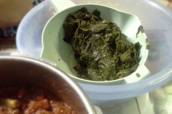 Taro leaves for spinach