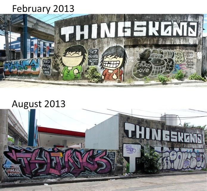 aurora graffiti collage