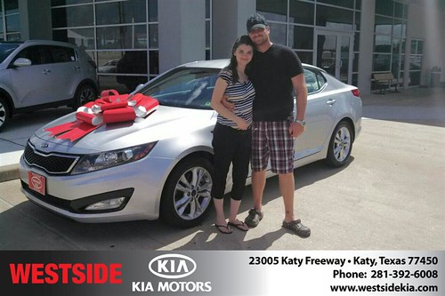 Thank you to Amy Lee on your new 2011 #Kia #Optima from Gil Guzman and everyone at Westside Kia! #BrandNewRide by Westside KIA