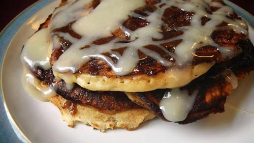 Cinnamon Roll Pancakes 11