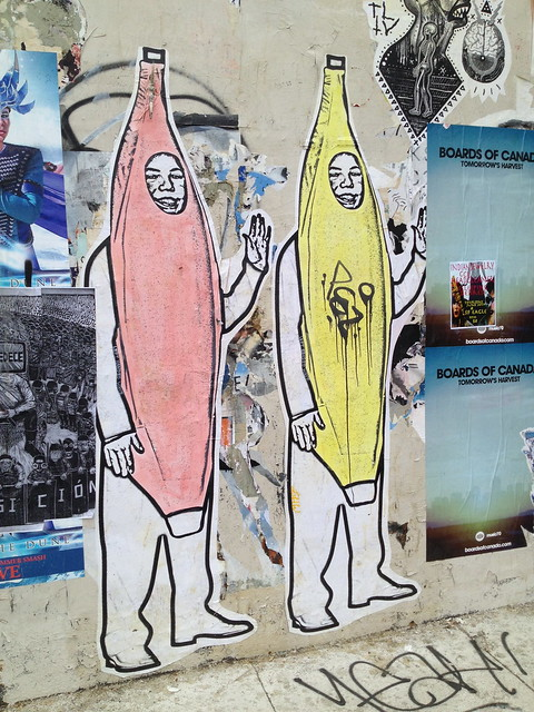 Banana people street art