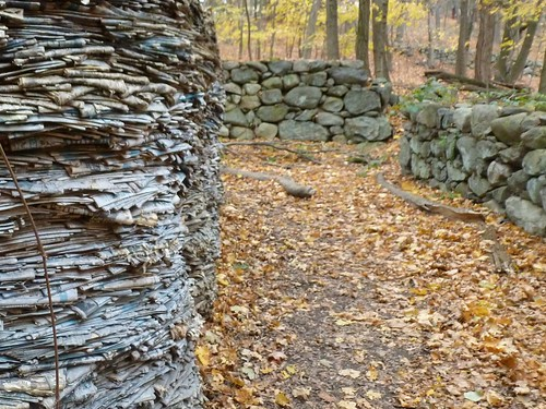 Paper piles and stone walls