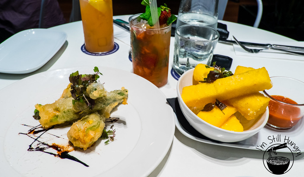 The Flynn, Polenta Fries, Zucchini Blossoms