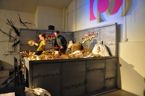 Scrooge McDuck's money bin for DuckTales Remastered at iam8bit gallery