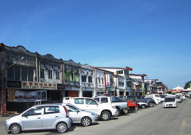 Sarikei old shops