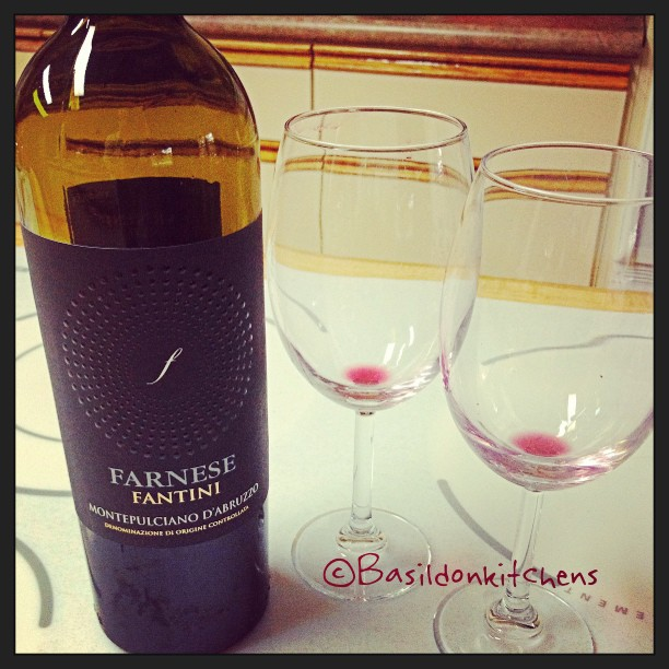 """Aug 20 - open {when a girlfriend dropped by after work I HAD to """"open"""" a bote if wine...} #photoaday #open #wine #farnese #montelpulcianodabruzzo"""