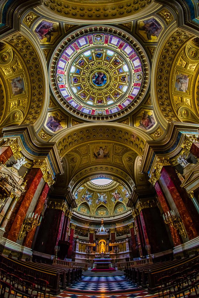 Inner Dome, St. Stephen's Basilica, Budapest, Hungary