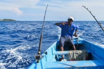 Het laatste weekendje met Lucía gingen we vissen in Roatan met Wilson.