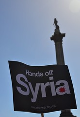Hands Off Syria in Trafalgar Square