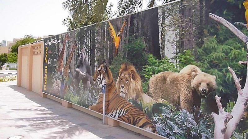 Dubai zoo's wall