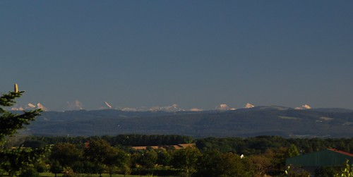 On a clear day you can see the high mountains of the Bernese Alps