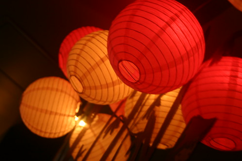Paper lanterns at Meyers and Chang