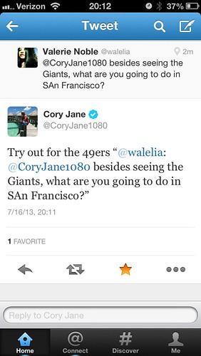 Cory Jane replied to me!!!