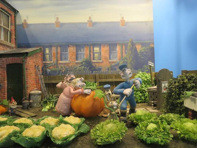 Wallace & Gromit pumpkin scene