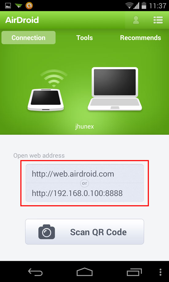 How to transfer files on Android devices Step 2