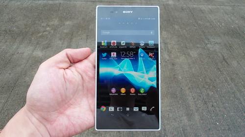 Sony Xperia Z Ultra ด้านหน้า