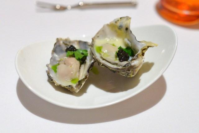 Oyster Vichyssoise, Leek Oil, American Caviar