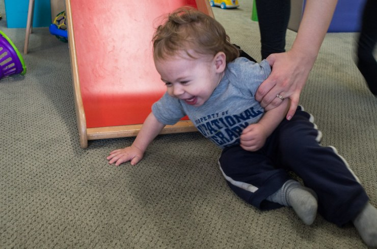 Micah on the slide