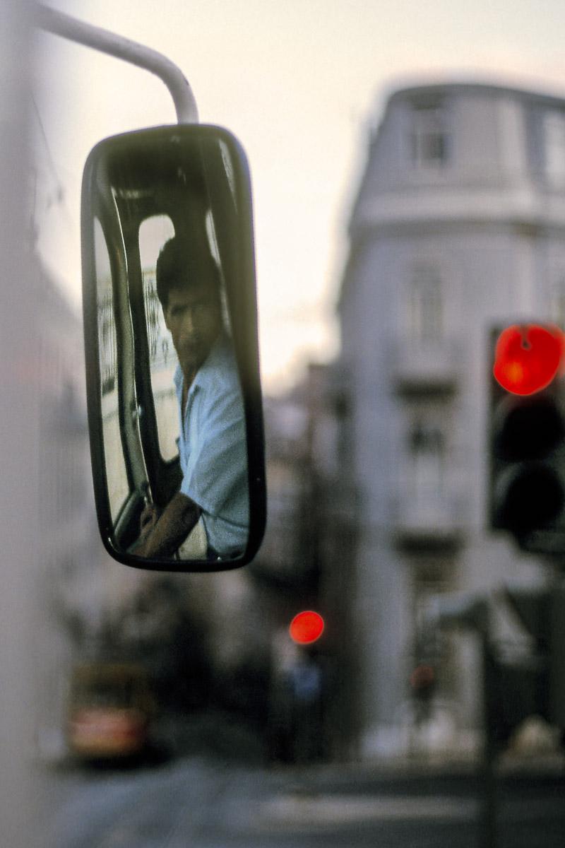 Tranviario en Lisboa