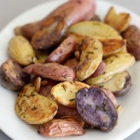 Garlic Rosemary Fingerling Potatoes