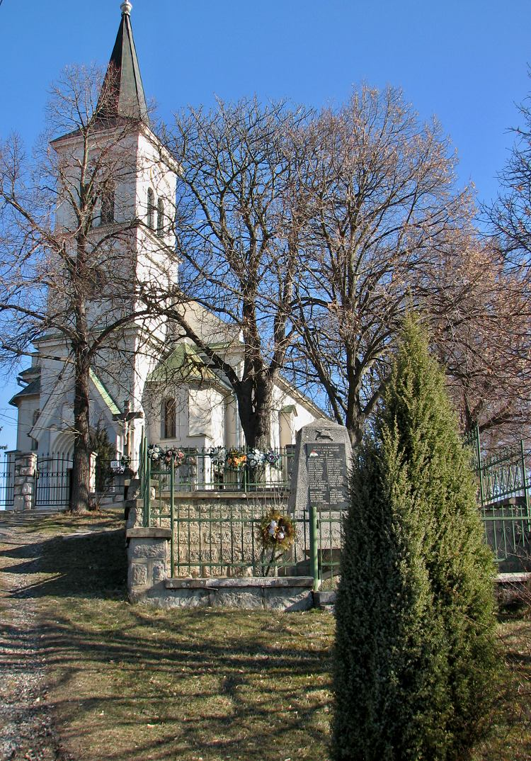 Kostol v Dolinke, čelný pohľad