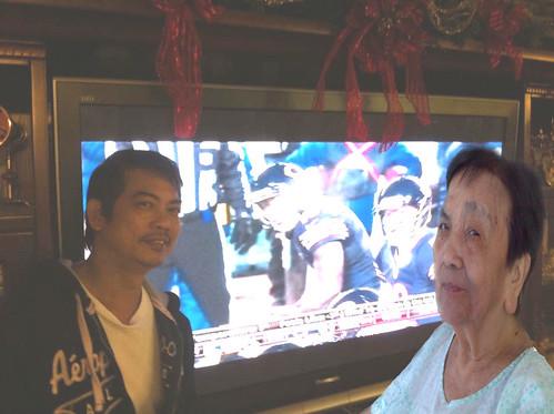 Latest Picture ni Kap with Inang (hehe) by joy san gabriel