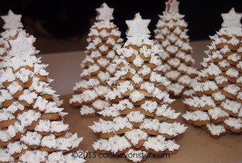 3D White Christmas Gingerbread cookies