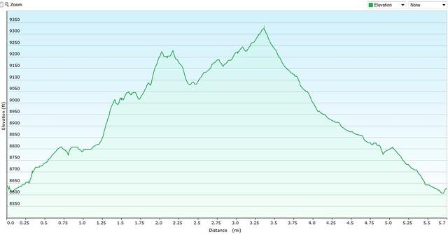 Lovell Gulch Elevation Map