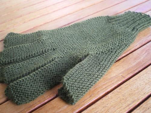 Gants tricotés 2 aiguilles adultes