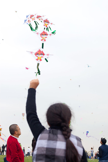 Girl with Kites.