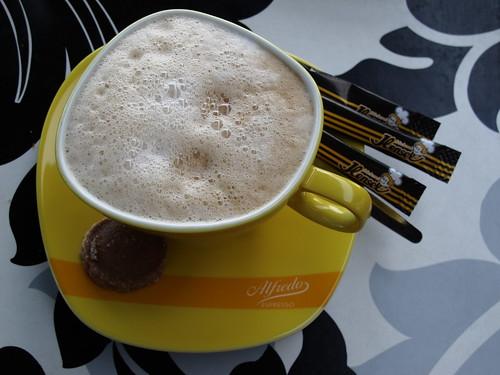 Milchkaffee von der Bäckerei Hensel in Schöttmar