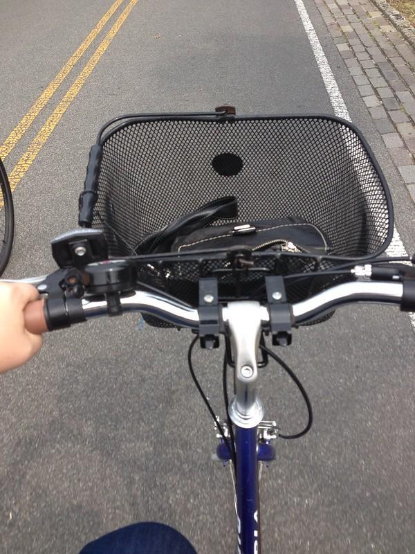 biking on the west side bike path