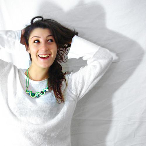 Collana Marbles indossata by bibidicreazioni