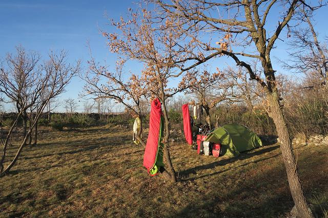 Camping spot morning ventilation