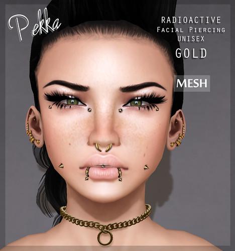 pekka radioactive unisex piercing gold