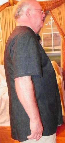 Side of man's shirt